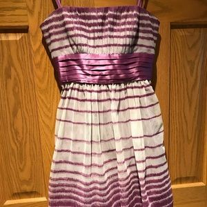 BCBGMaxAzria Dresses - BCGB purple and white cocktail dress.